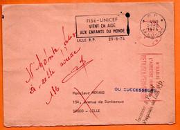 59 LILLE UNICEF    1974 Lettre Entière N° RR 508 - Mechanical Postmarks (Advertisement)