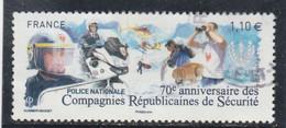 70 E ANNIVERSAIRE DES COMPAGNIES REPUBLICAINES DE SECURITE FRANCE 2014 OBLITERE YT 4922  - - Used Stamps
