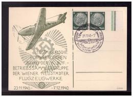 Dt- Reich (008543) Propagandakarte 1. Ostmärkische Postwertzeichenschau Der KDF, Wiener Neustädter Flugzeuge, Mit SST - Briefe U. Dokumente