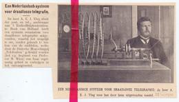 Orig. Knipsel Coupure Tijdschrift Magazine - Hoek Van Holland - Systeem Draadloze Telegrafie Dhr. A. Vlug - 1911 - Ohne Zuordnung