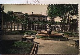 Cpsm , écrite, LOGRONO - JARDINS DE L'INSTITUT - JARDINES DEL INSTITUTO  (ESPAGNE), éd Darvi - La Rioja (Logrono)