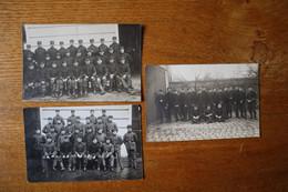 3 Cartes Photos De Sapeurs Pompiers De Paris  Vers 1910 - Sapeurs-Pompiers