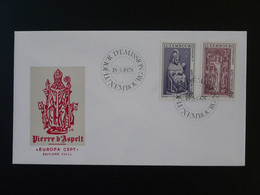 FDC Europa 1978 Pierre D'Aspelt Medieval History Luxembourg Ref 828 - FDC