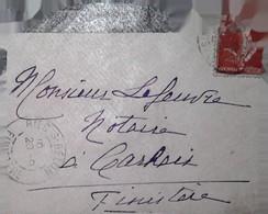 H 1 Lettre/document / Carte Postale /entier /19...  Riec Sur Belon - 1877-1920: Période Semi Moderne