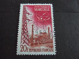 """1950-59 - Oblitéré N°   1204   """"    Marcoule """"   """"      - Net  0.50  - - Usados"""