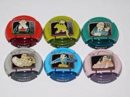 Série De 6 Capsules De Champagne - COUTELAS MANFAIT - Collezioni