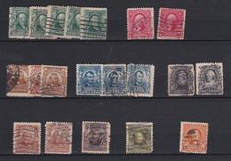 USA013 1902-1903 Petit Lot Série Courante  Used (O) - Non Classificati
