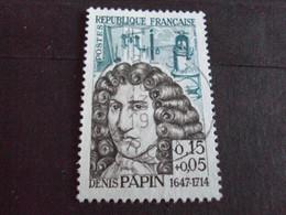 """1960-69 - Oblitéré N°   1345   """"  Denis Papin     """"  Crest, Drome """"     - Net   0.80 - Usados"""