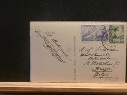 A13/879  CP  TANGER   POUR LA BELG.AFFR. MIXTE - 1951-60 Covers