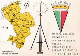 Postal  De Radio -amador-MÁRETA-CALDAS DA RAINHA - Radio