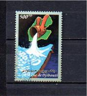 Timbre Oblitére De Djibouti - Yibuti (1977-...)