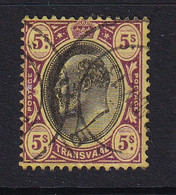 Transvaal: 1904/09   Edward    SG270   5/-       Used - Transvaal (1870-1909)