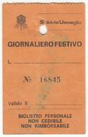 SKIPASS GIORNALIERO SCIOVIE USSEGLIO ANNI '70/'80 - Toegangskaarten