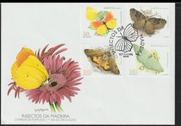 Madeira FDC 1998 Butterflies (DD26-9) - Butterflies