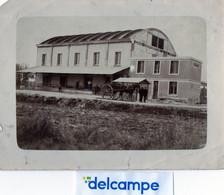PHOTO ANCIENNE -  CAVE COOPERATIVE DE LA CROIX - 1931  -  BLERE  LA  CROIX  (37)    Attelage. - Orte