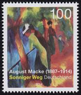 3103 August Macke - Gemälde Sonniger Weg ** - Ohne Zuordnung
