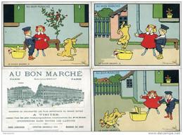 5 GRANDES CHROMOS / AU BON MARCHE / BENJAMLIN RABIER / LE CHIEN SAVANT / 2.3.4.5.6 - Au Bon Marché