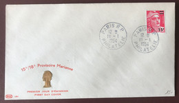 FRANCE N°968 (Marianne Provisoire) - FDC - TAD PARIS R.P. PHILATELIE 11.1.1954 - (A1385) - 1950-1959