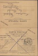 Guerre 14 CP En FM Franchise Militaire 2 Volets CAD Montbrison Loire 8 9 1914 Texte Bourgoin Isère - Oorlog 1914-18