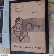S.N.C.B PROTECTION DES YEUX 20 AOUT 1958 - Chemin De Fer S.N.C.B PROTECTION DES YEUX - Spoorweg