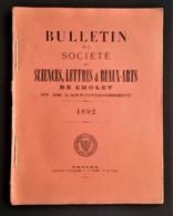 CHOLET 1892 Bulletin De La Société Des Sciences Lettres Et Beaux Arts. Notamment Article Peintre Trémolières - Riviste - Ante 1900