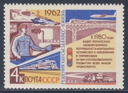 Soviet Unie CCCP Russia 1962 Mi 2699 YT 2598 SG 2773 ** Signalman Etc - Transport / Verkehrswesen - Treni