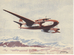 Caudron  -  ''Goeland'' Transport Et Liaisons Rapides  -  Par Carte Postale Illustrateur Jean Des Gachons  -  CPA - 1919-1938: Entre Guerras