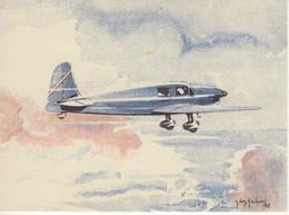 Caudron  -  ''Simoun''  Grand Tourisme Et Liaisons Rapides  -  Par Carte Postale Illustrateur Jean Des Gachons  -  CPA - 1919-1938: Entre Guerras
