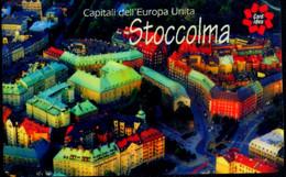 SCHEDA TELEFONICA CARDIDEA TELECOM 3 CAPITALI DELL'EUROPA UNITA STOCCOLMA - Publiques Spéciales Ou Commémoratives