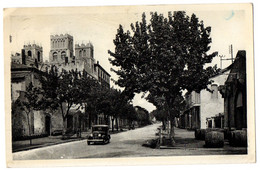 CPA 34 - FRONTIGNAN LES MUSCATS (Hérault) - LL. 8 - Le Boulevard Gambetta (automobile) - Frontignan