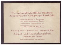 Dt- Reich (009049) Propaganda Einladungskarte Der NSDAP Ortsgruppe Barchfeld Zum 10. Jahrestag Der Machtübernahme - Briefe U. Dokumente