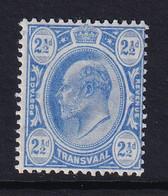 Transvaal: 1905/09   Edward    SG276    2½d     MH - Transvaal (1870-1909)
