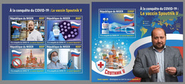 NIGER 2021 MNH Covid-19 Sputnik 5 Vaccine Impfstoff Vaccin M/S+S/S - OFFICIAL ISSUE - DHQ2134 - Médecine