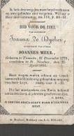 18/08/A/   °  TEMSE 1778 + ST NICOLAES 1844   JOANNA DE DYCKER - Religion & Esotericism