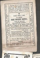 18/08/B//   ° BRUGGE 1758 + 1847  MARIE FRANCOISE BOUTENS - Religione & Esoterismo