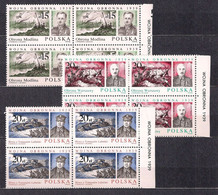 POLAND 1988 DEFENSIVE WAR 1939 & FAO CONFERENCE 2setS BLOCK Of 4 MNH - Unused Stamps