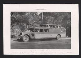 Pub Papier 1927 Automobiles Car Autobus Autocar Bus Américain Léviathan De La Route Autocars - Advertising