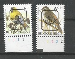 Lot Préo's  **  Postfris Zonder Scharnier Met Plaatnummer In Velrand ( Zegels Zijn Apart Verkrijgbaar ) - 1985-.. Birds (Buzin)