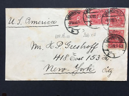 GERMANY 1922 Cover Braunschweig To New York USA - 40M Rate - Lettres & Documents