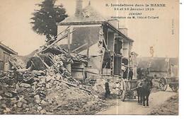 51 - JUVIGNY - Inondations 1910 - Habitaton De M. L'Abbé Collard  (Animée - Attelage) - Autres Communes