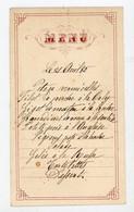 MENU DU 21 AVRIL 1885  (??) - - Menus