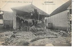51 - JUVIGNY - Inondations 1910 - Une Maison écroulée (Animée) - Autres Communes