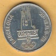 Medalla Conmemorativa BARCELONA 1992. OLYMPHILEX, Juegos Olimpicos, Niquel - Professionals/Firms