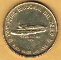Medalla Conmemorativa MADRID 1992. Feria Del Sello, Avion PLUS ULTRA, Cupro Niquel - Professionals/Firms