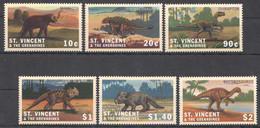 AA1409 ST.VINCENT FAUNA REPTILES WHEN DINOSAURS RULED THE EARTH 1SET MNH - Prehistorisch