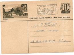 """260 - 40 - Entier Postal Avec Illustration """"Saanen"""" Superbe Oblit Mécanique 1956 - Entiers Postaux"""