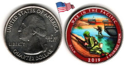 USA - Quarter Dollar - 2019 D (War In The Pacific - Color) - 2010-...: National Parks