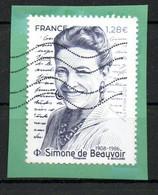 France Oblitéré Used  2021 De Beauvoir  N° >>>   Cachet Vague - Oblitérés
