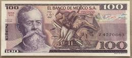 ♛ MEXICO - 100 Pesos 25.03.1982 {Series VB} UNC P.74 C - Messico