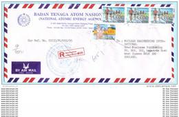 INDONESIEN INDONESIA INDONESIE - 1195 1456 Plan Sport - R- Brief Registered Cover (26367) - Indonesia